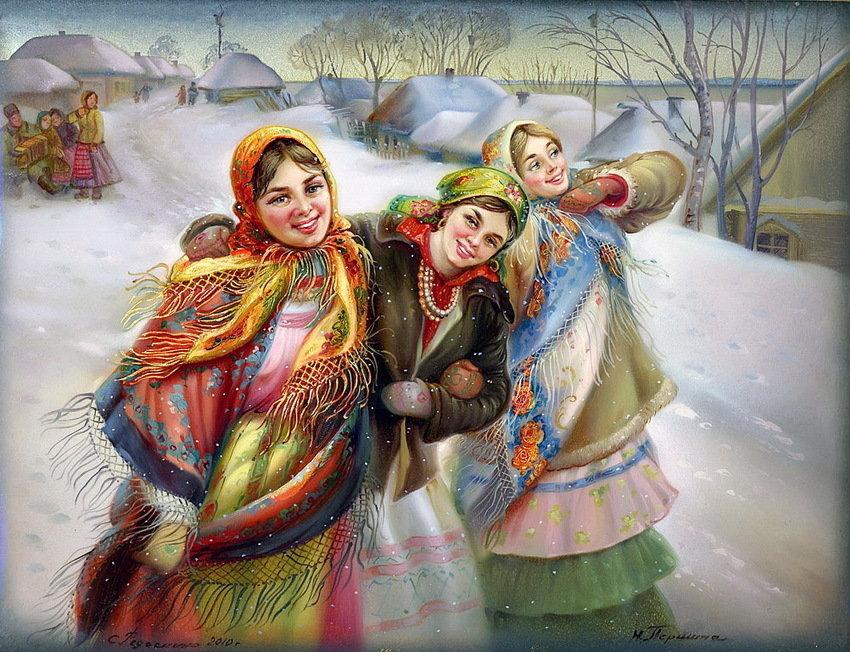 Картинки со святками с пожеланиями