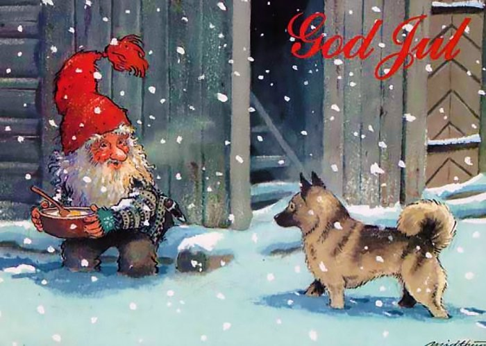 Москва, финские открытки на рождество