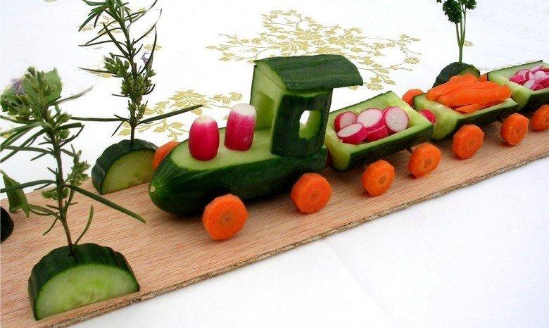 Осенние поделки в садик из овощей фото