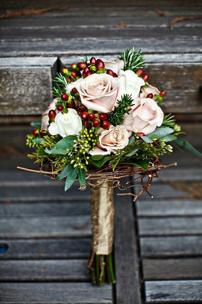 Цветов, букет для невесты зима