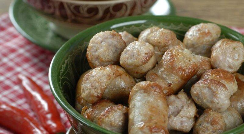 Свиные колбаски с пряными перцами. Пошаговый рецепт с фото