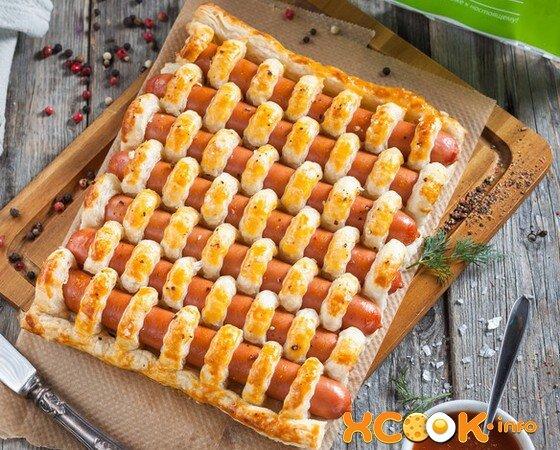 Пирожки из слоеного теста сосиска рецепты