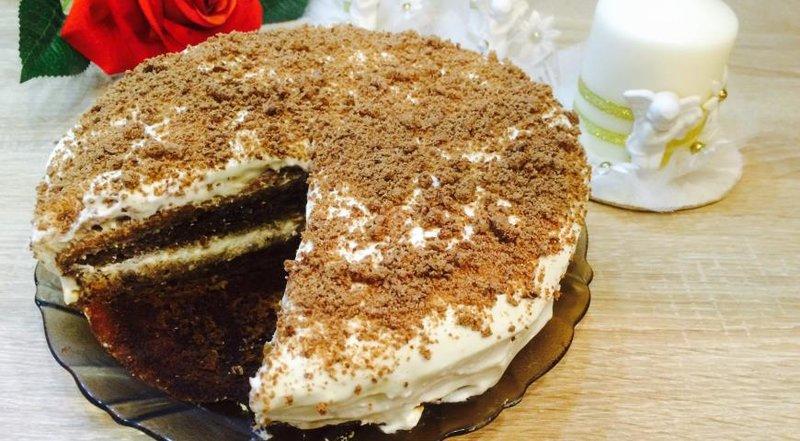 Рецепт несложного торта с фото