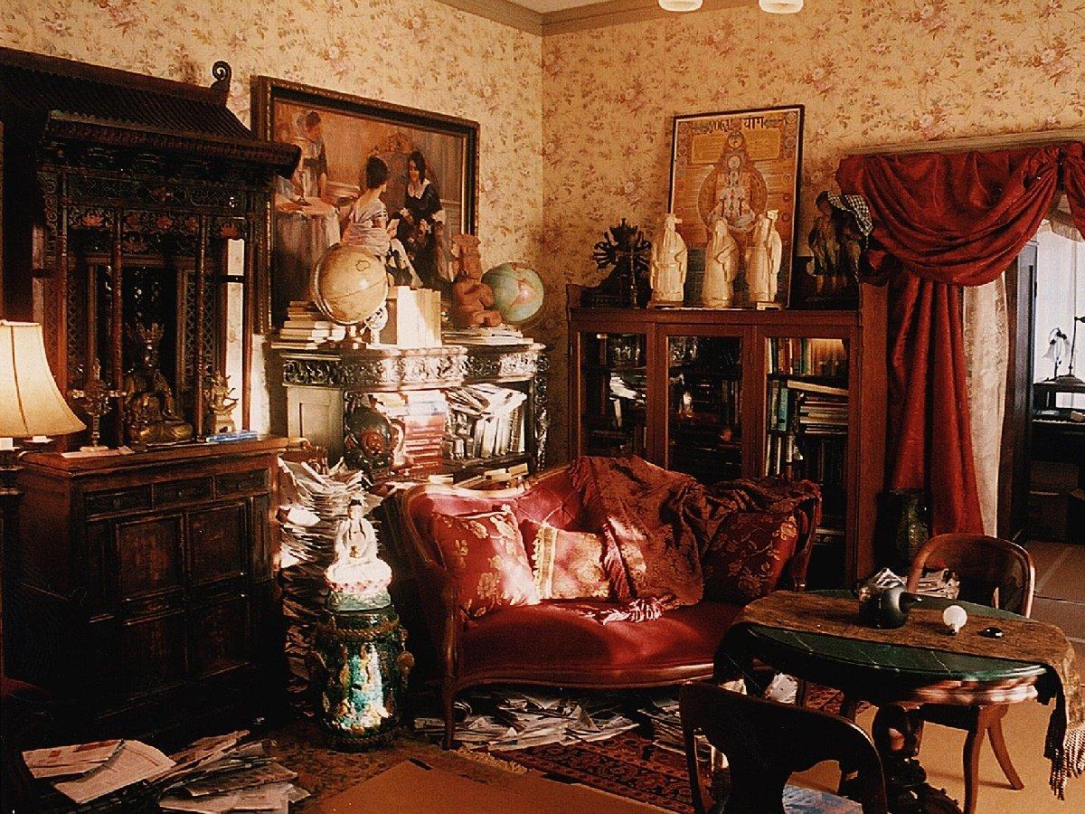 modern victorian living room