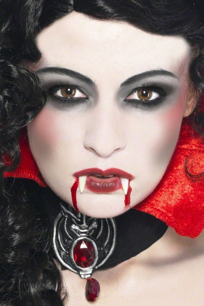 Картинки макияжа на хэллоуин вампир