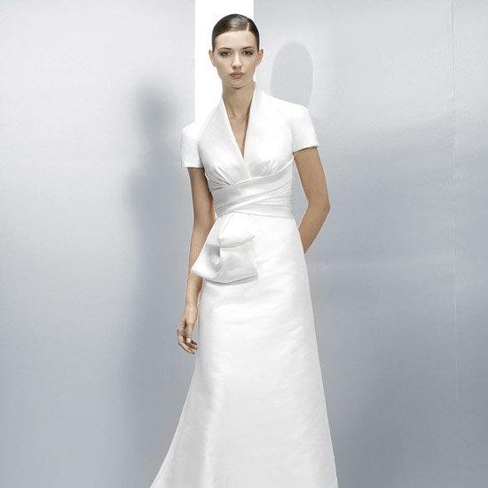 свадебное строгое платье фото