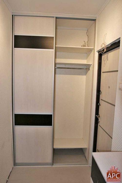 Встроенные гардеробные шкафы купе для прихожих фото в соврем.