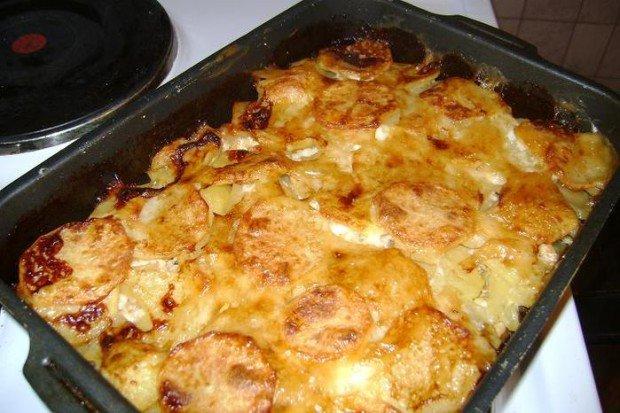 Курица по царски с картошкой в духовке