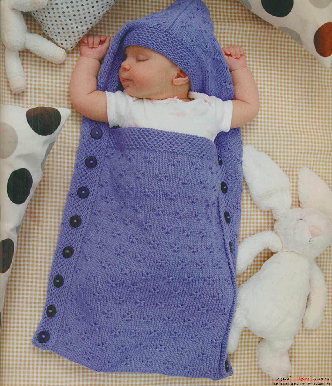 Комбинезон для новорожденного спицами выкройка, схема 20