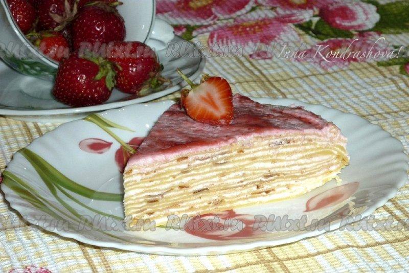 готовим торт из блинов с фото