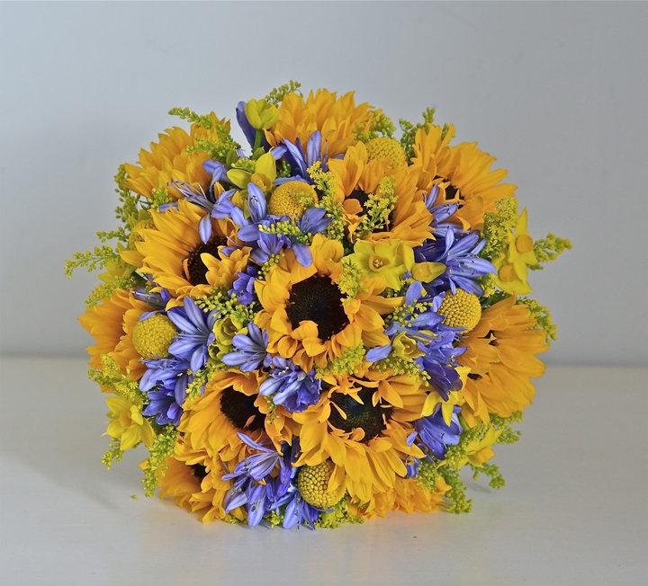 Букет желто-синий, оптом