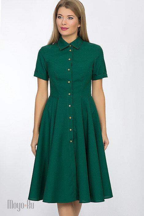Платье на пуговицах приталенное