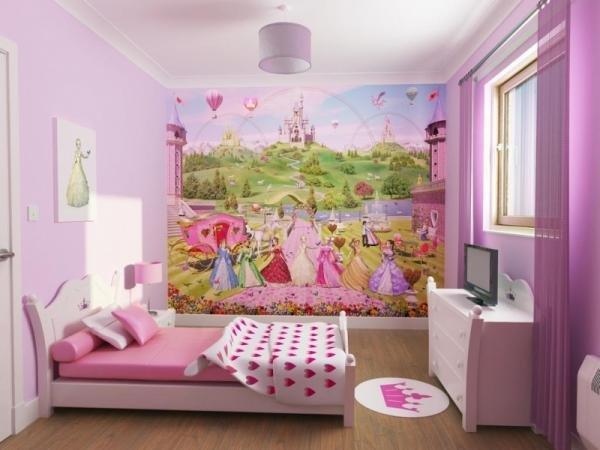 детская комната рисунки на стенах фото дизайн и декор стен в