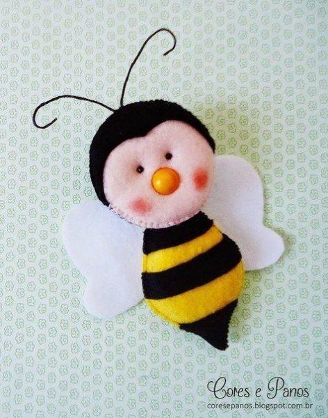 Пчелка из фетра своими руками