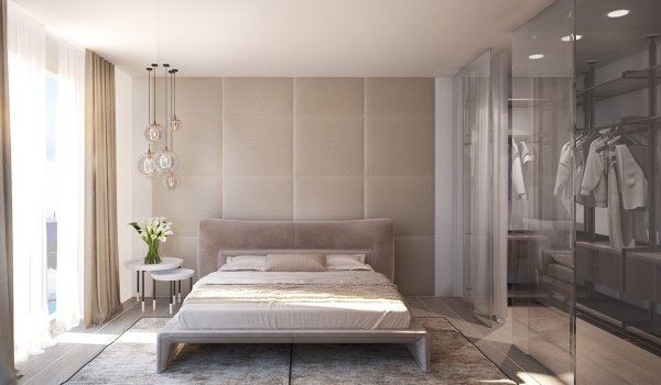 встроенная гардеробная в спальне фото