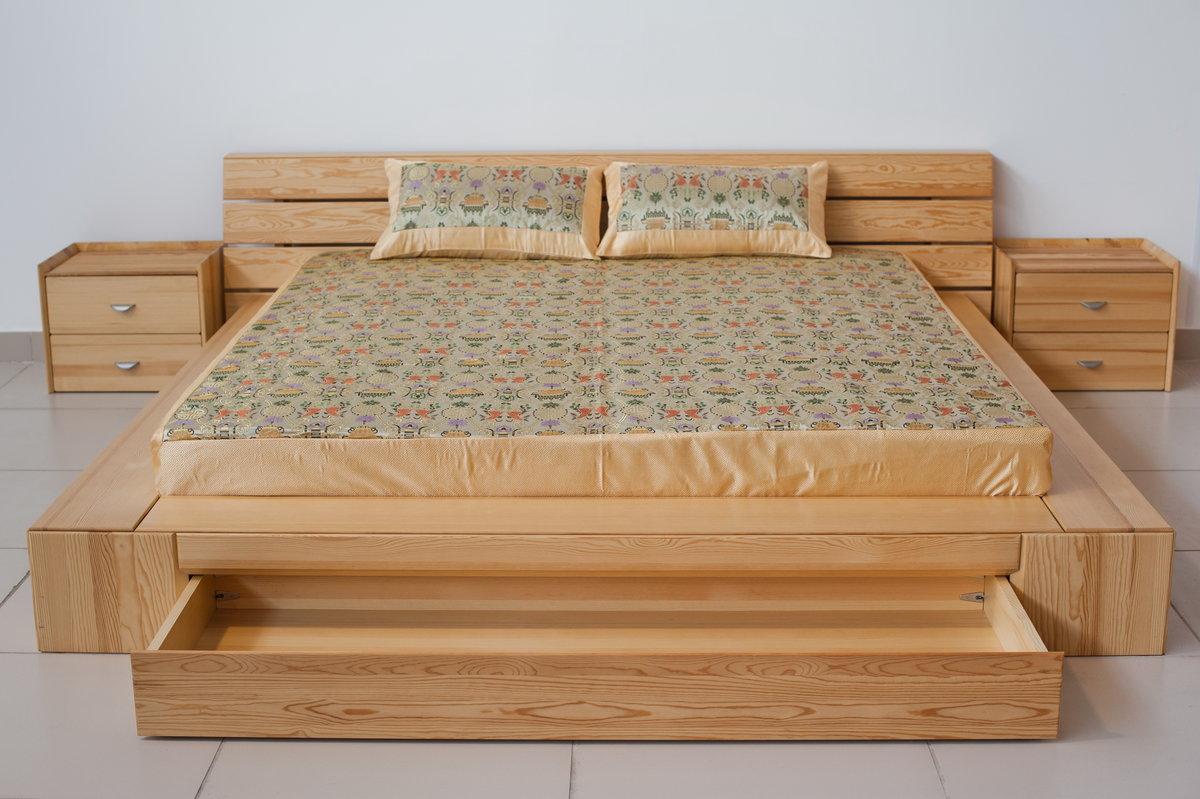 Двуспальная кровати из дерева своими руками