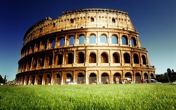 Wallpapers colosseum, arena, rome, summer, architecture, ...