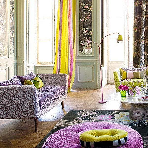 Текстиль в интерьере комнат осенью