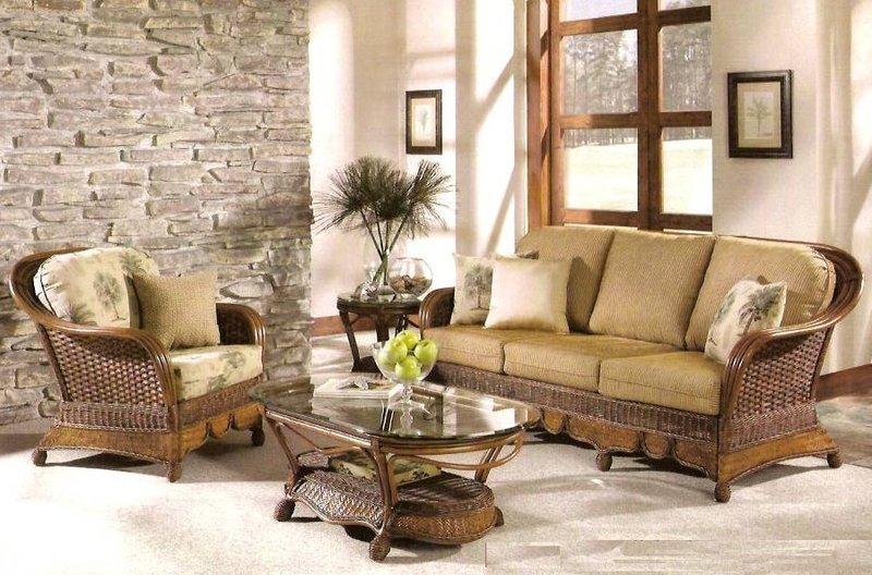красивая плетеная мебель кантри.