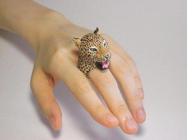 леопардовое колечко