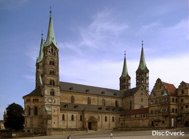 бамбергский кафедральный собор, бамберг, германия.
