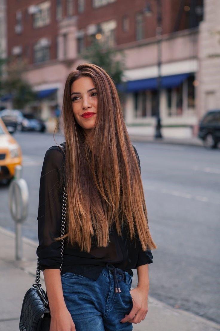 волосы прямые длинные фото