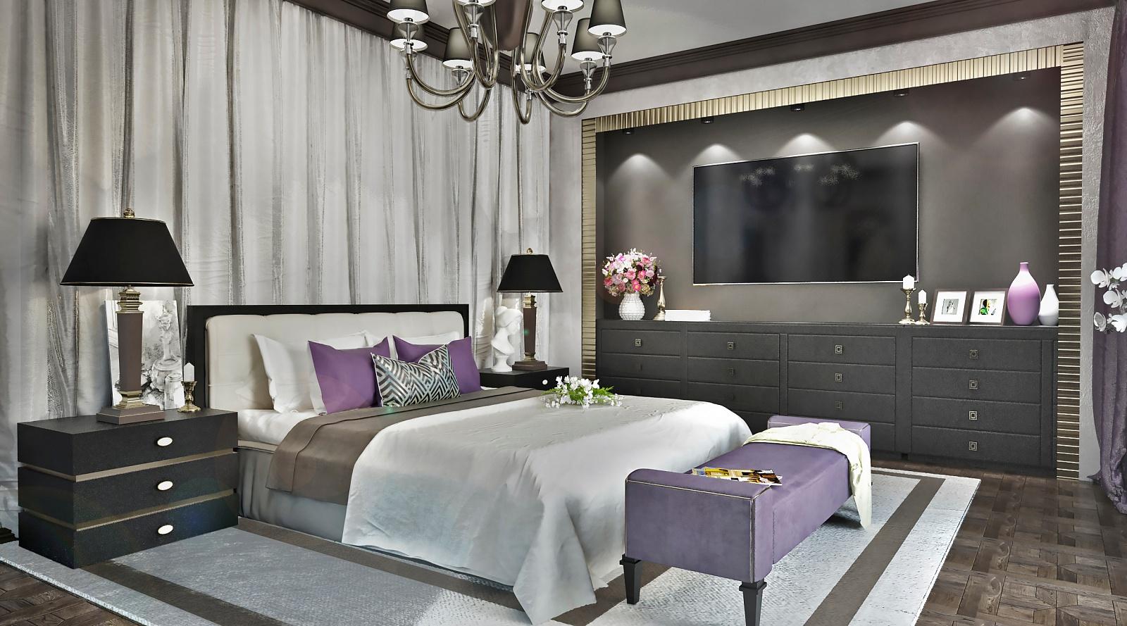 спальня арт-деко фото