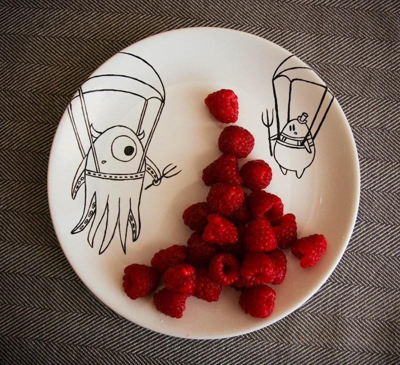 прикольные картинки для тарелки