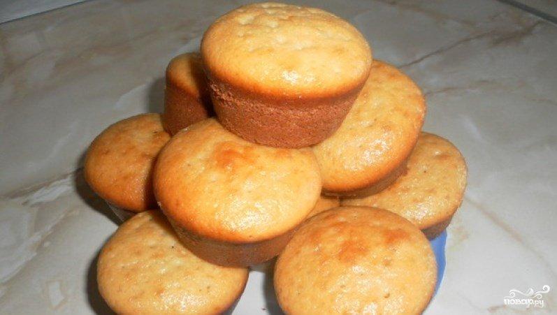 Тесто для кексов в формочках на молоке