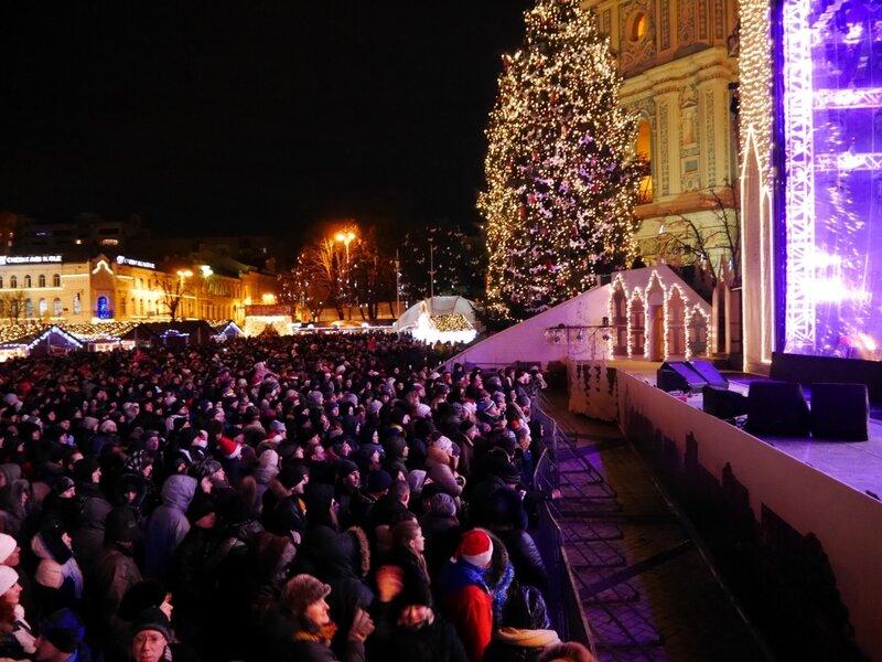 Новогодний концерт на Софийской площади