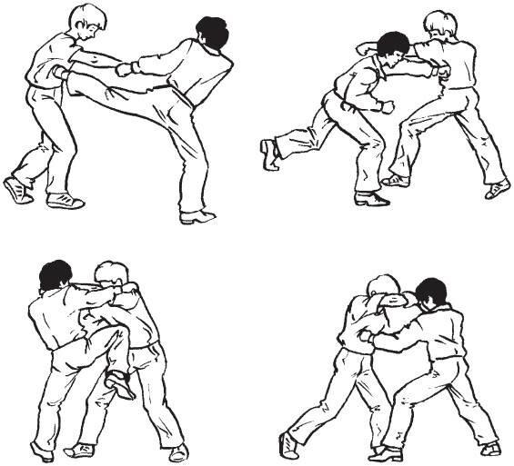 Обучение приемов рукопашного боя в картинках