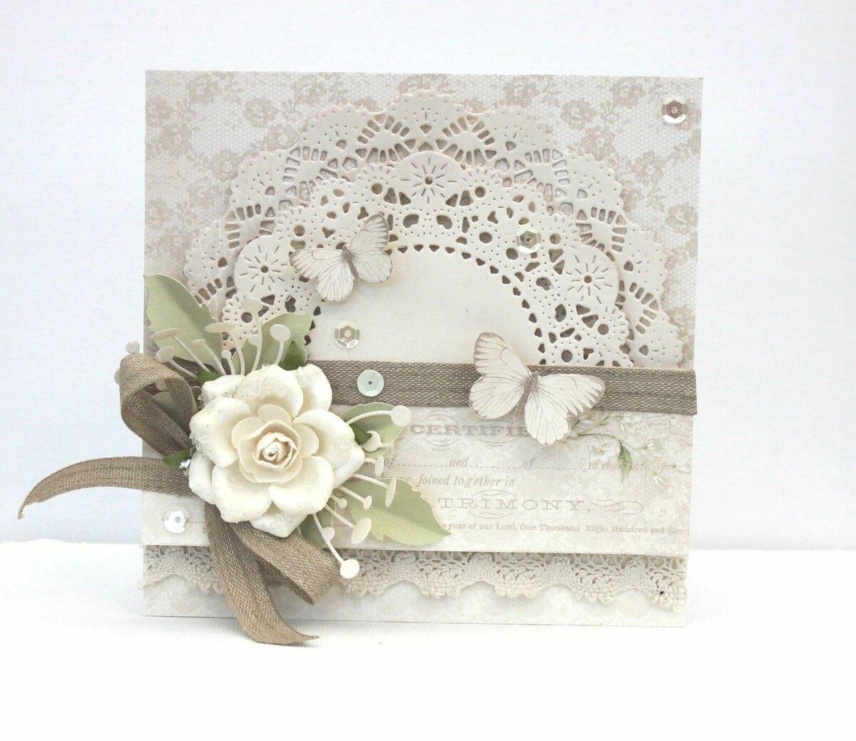 Скрапбукинг открытки со свадьбой