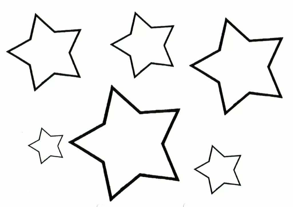 Картинки звездочек для вырезания распечатать