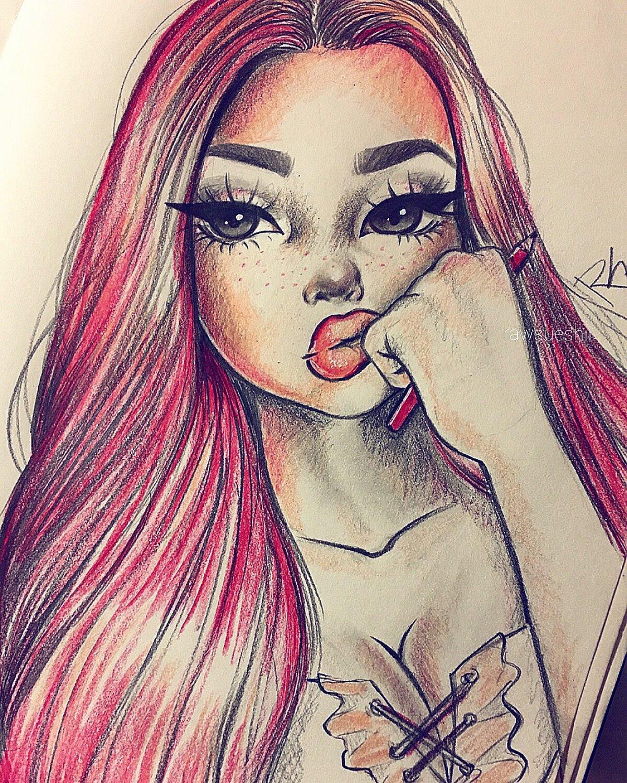 Крутая картинка девушки для срисовки