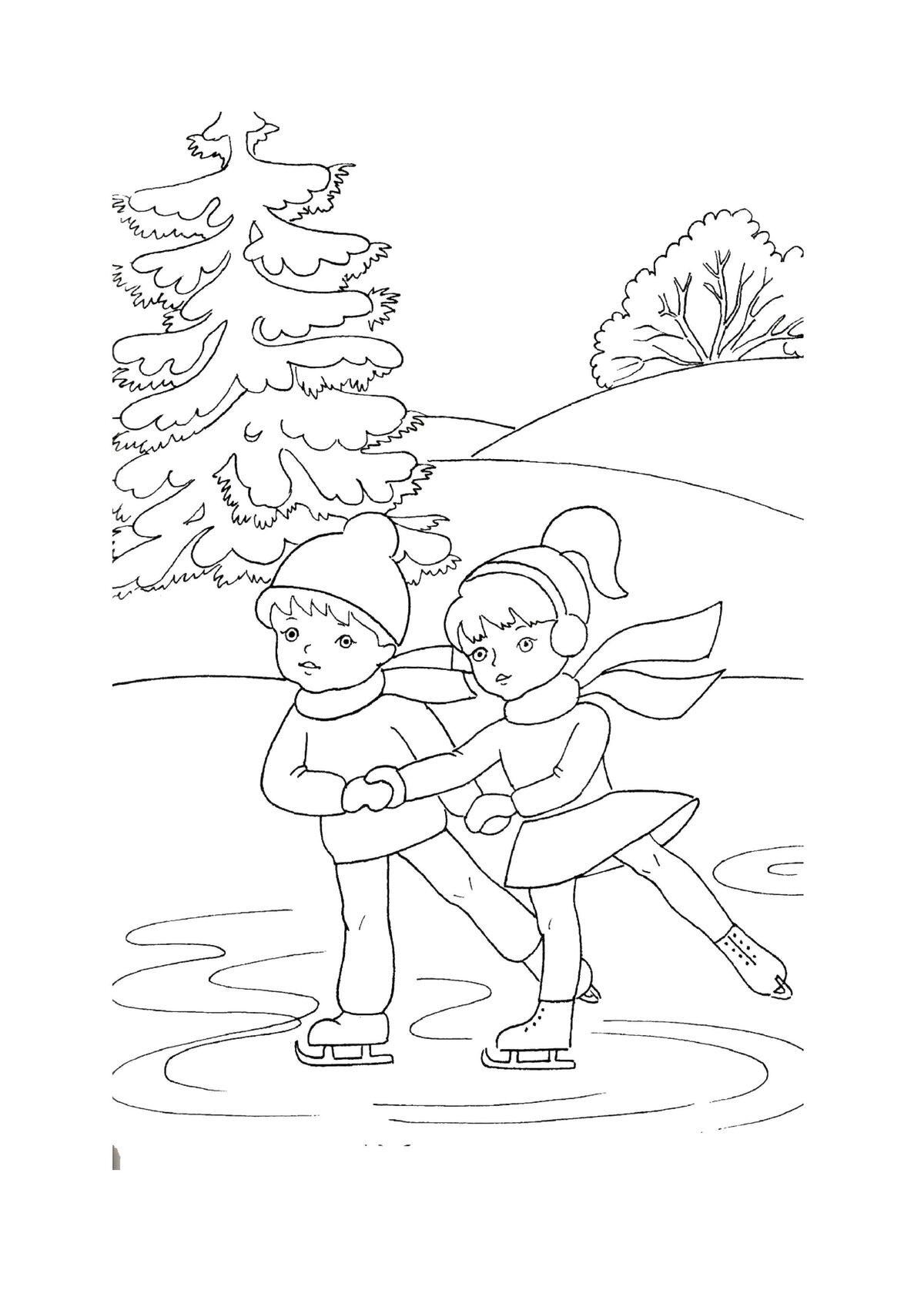 «Раскраска Зимняя одежда Раскраски зима для детей ...