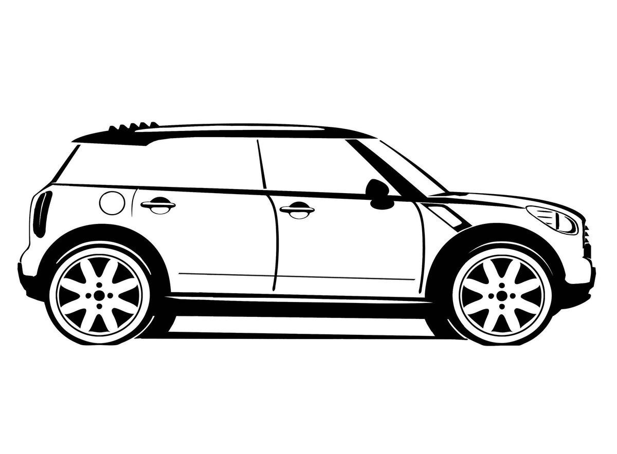 рисунок автомобиля сбоку показаниям других