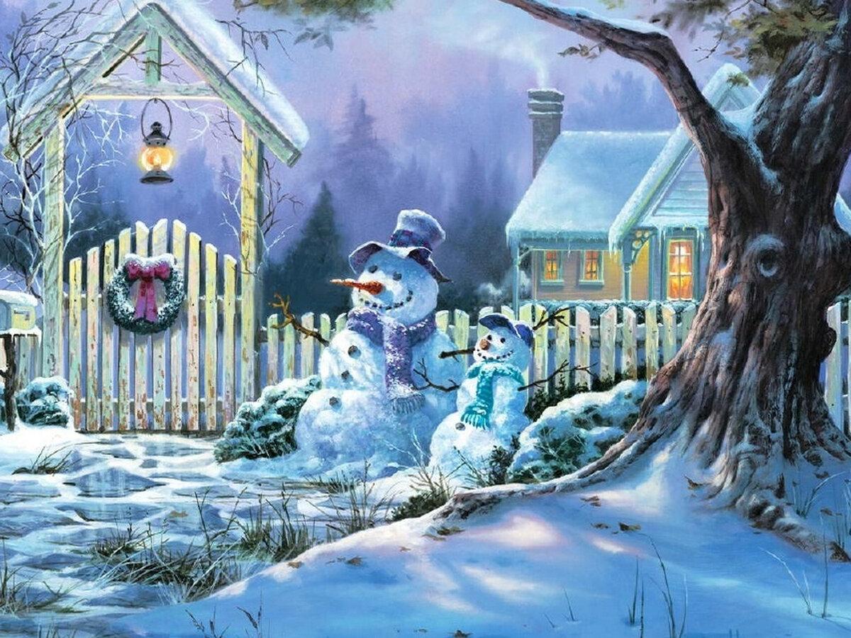 ремесла приходится смотреть сказочные картинки зимние длинной