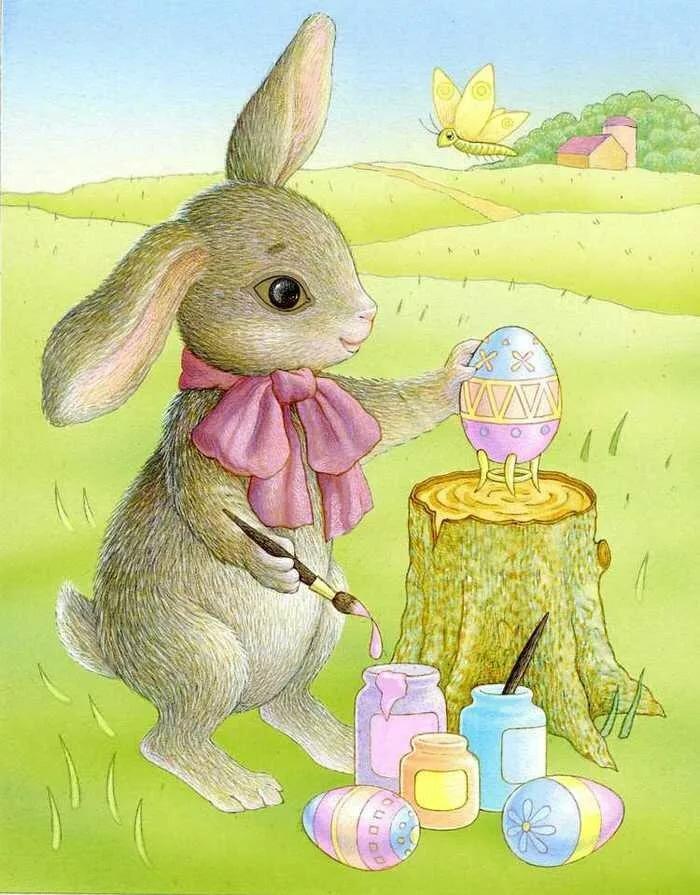 сейчас открытки пасхальные с кроликами разделение клавиатур