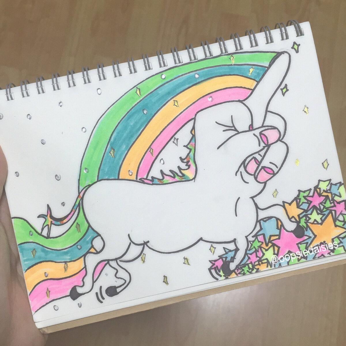 Картинки для срисовки легкие и красивые с единорогами