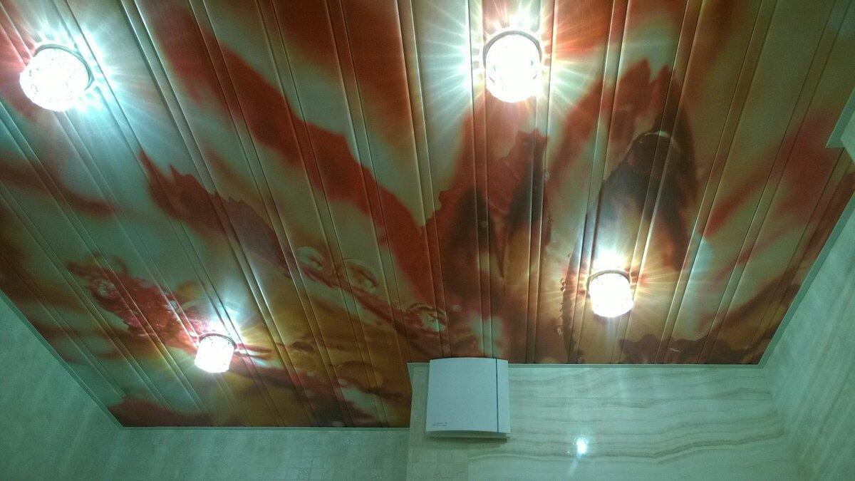 Реечный потолок №119