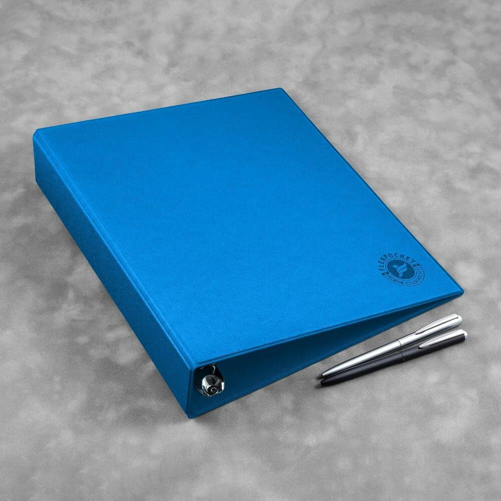 Синяя папка на кольцах