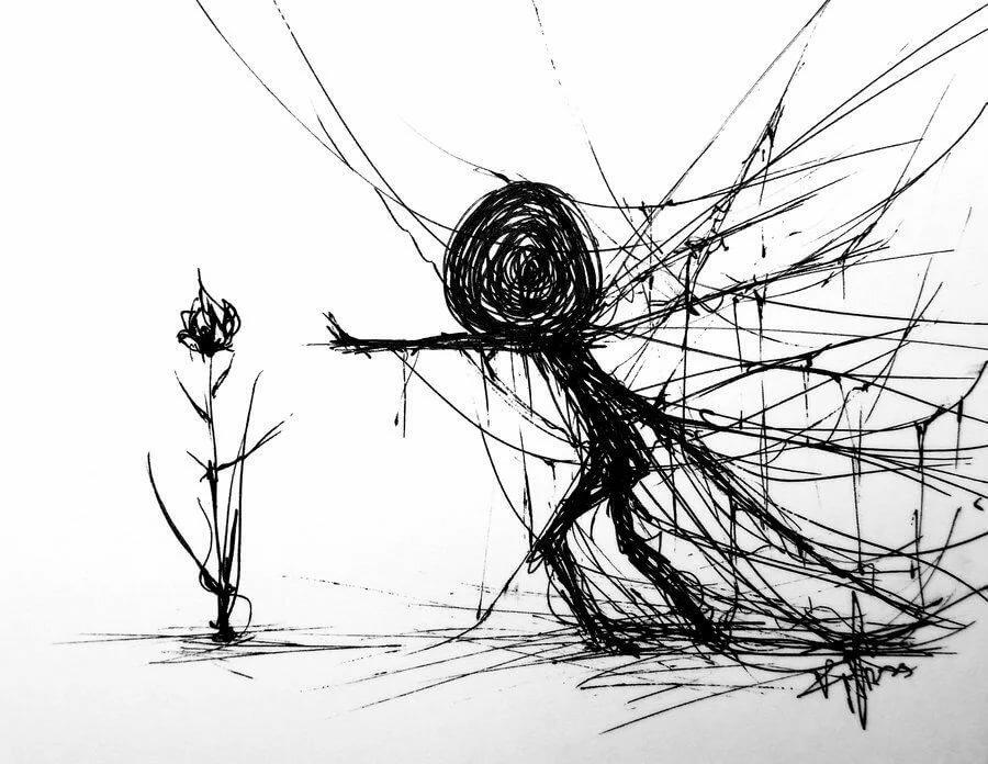 Мрачные картинки для срисовки