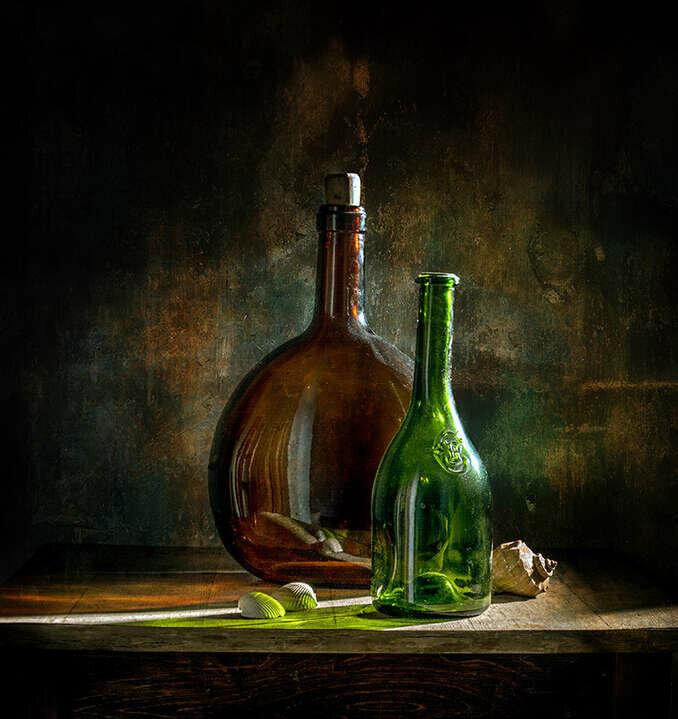 картинки с натюрмортами с бутылками что наказаны