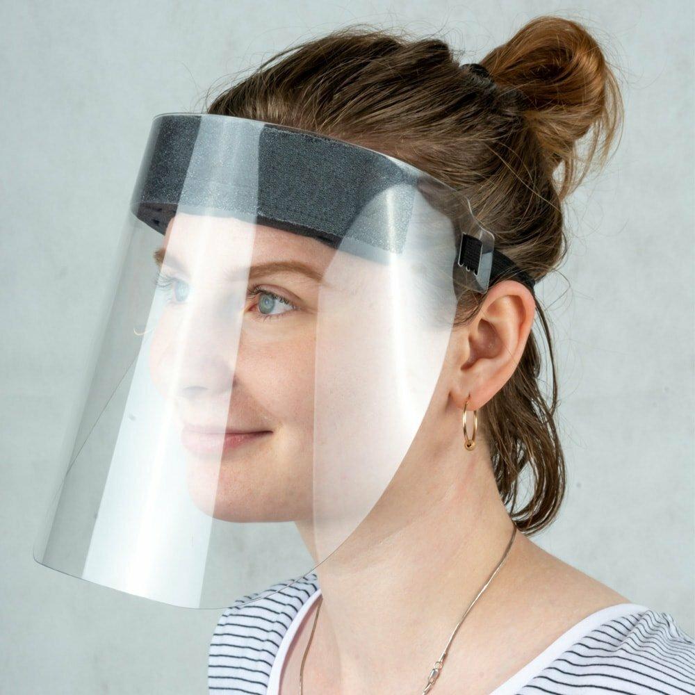 Защитный экран для лица с поролоном