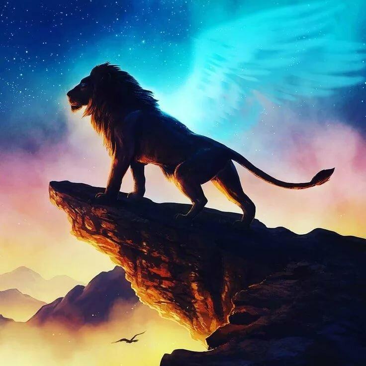 Летящий лев картинка