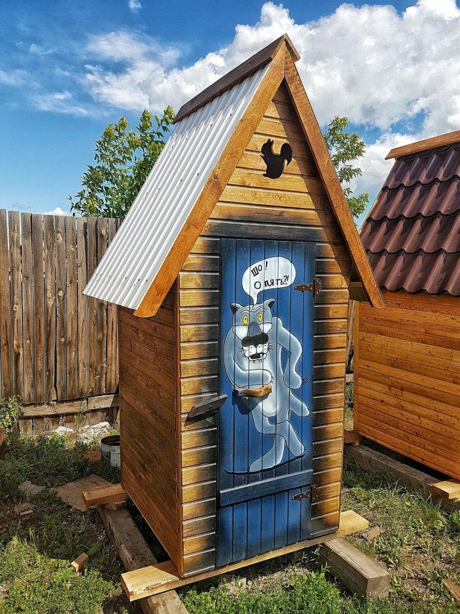 Прикольные картинки на двери туалета на даче