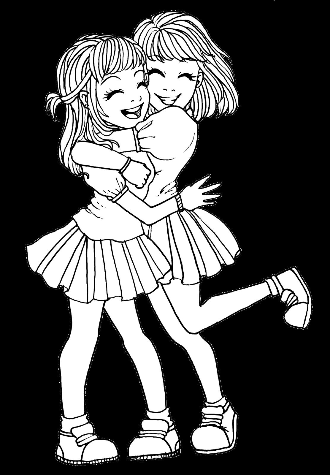 Две лучшие подруги рисунки раскрашенные