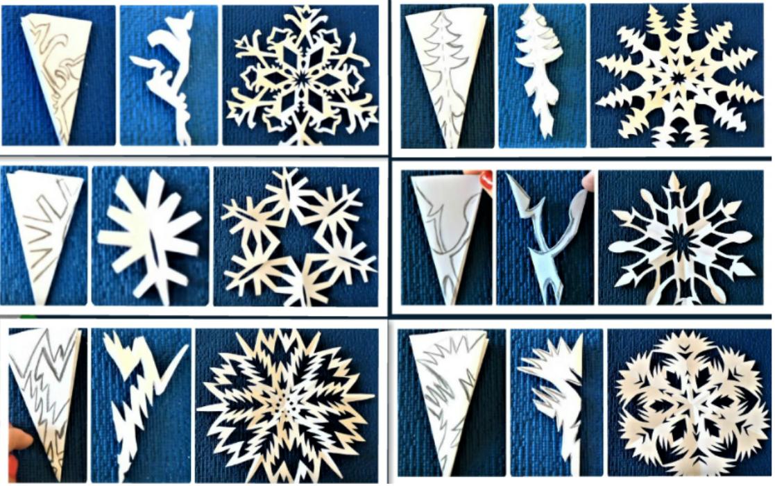 вид как делать снежинки из бумаги пошагово фото интернете можно