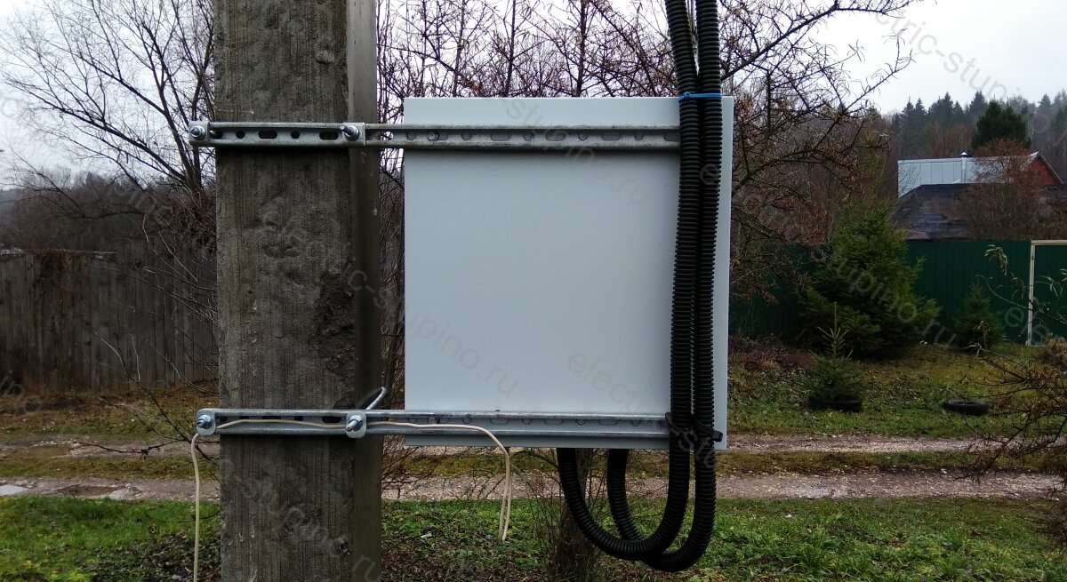 Заземление электрощита на 380 В 15 кВт для частного дома на опоре