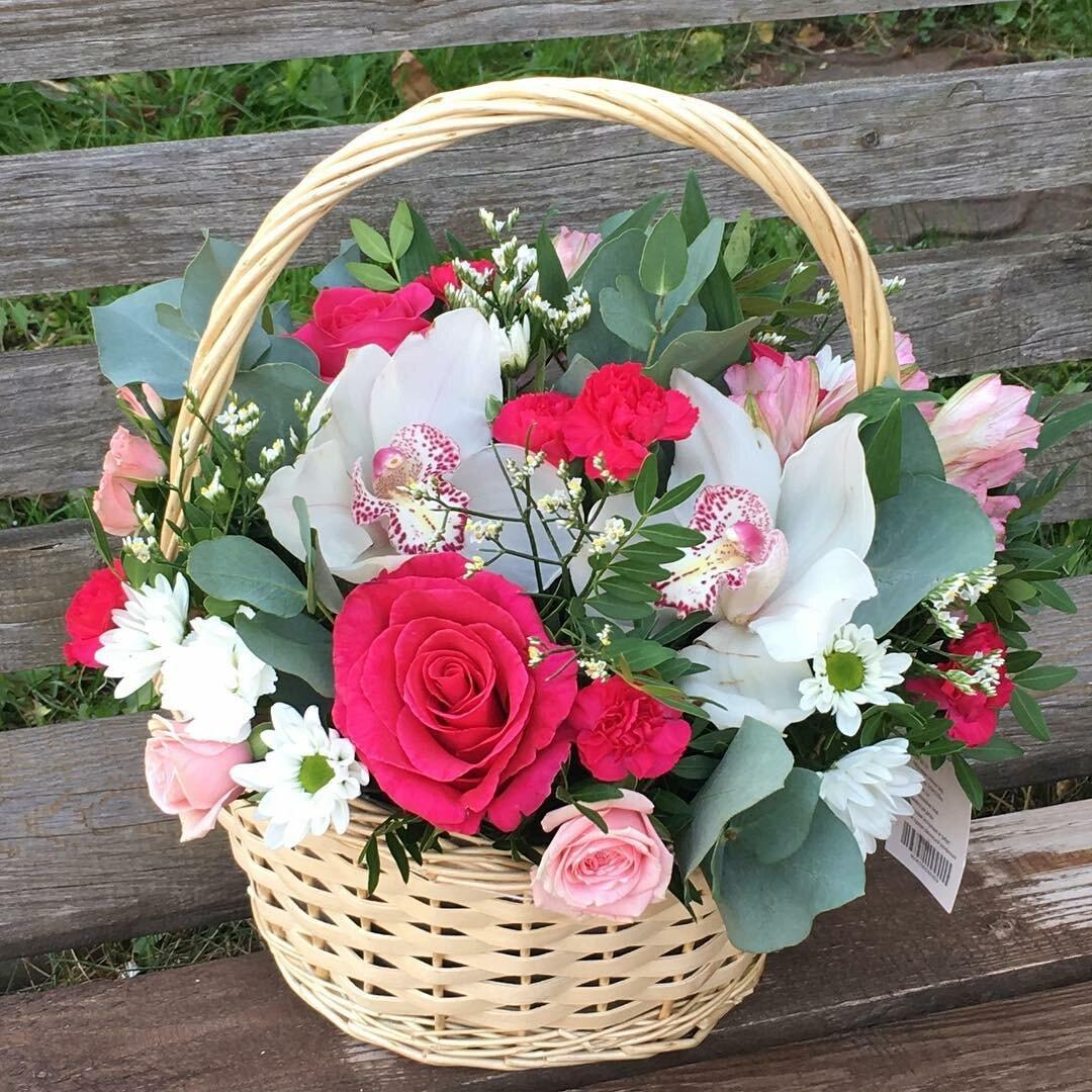 красивые корзины с цветами картинки букеты время звезда